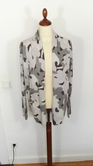 BLOOM Strickjacke in grau, Camouflageprint,  Gr. 38 NEU, Neupreis 159,90
