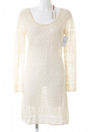 Bloom Strickkleid creme Lochstrickmuster Romantik-Look