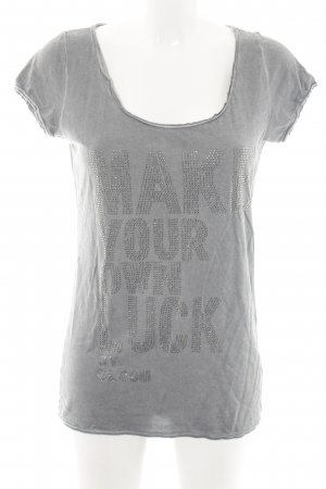 Bloom T-Shirt hellgrau meliert Casual-Look