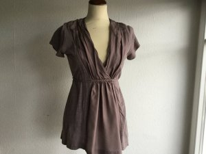 Bloom Tunic Blouse grey lilac silk