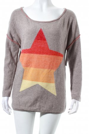 Bloom Wool Sweater grey-orange fluffy