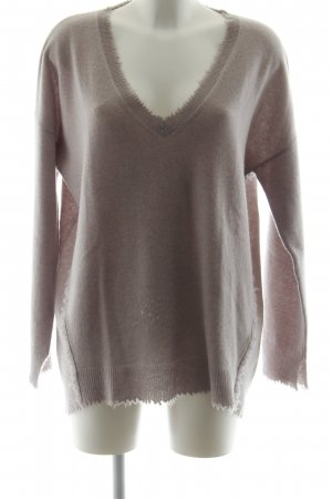 Bloom Wool Sweater light grey-purple casual look