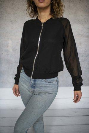Amisu Blouson noir polyester
