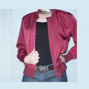 Giacca bomber rosso scuro
