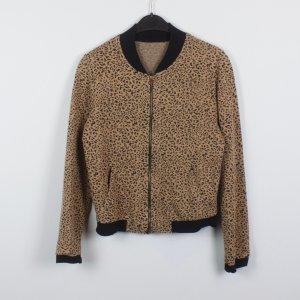 Blouson Jacke Gr. S braun Leopardenmuster (18/12/040)
