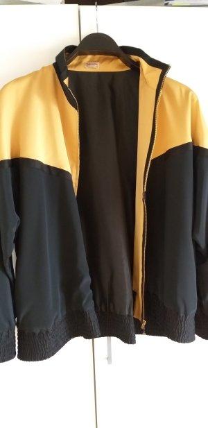 Blouson black-gold-colored