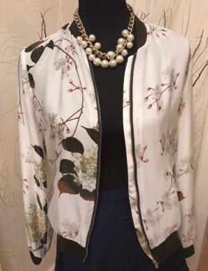 Blouson Zara Bomberjacke Blüten Satin