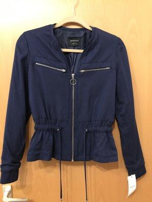 Reserved Chaqueta tipo blusa azul oscuro