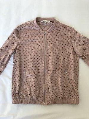 Blousonjacke von Zara, Wildlederimitat