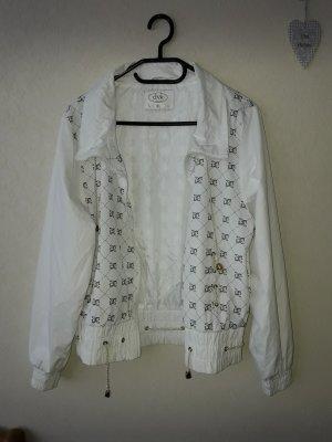 Blusón blanco-ocre poliamida