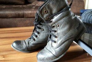 Blowfish Malibu Boots, Stiefel, Grau, Gr 37, Super Zustand!