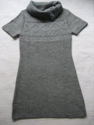 blu motion kleid strickkleid grau gr. s 36