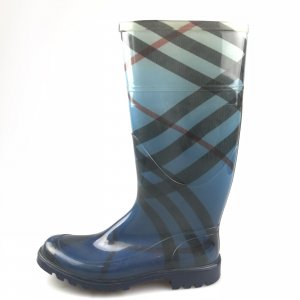 Blue Burberry Rain & Snow Boot