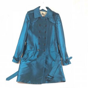 Blue Burberry Trench Coat