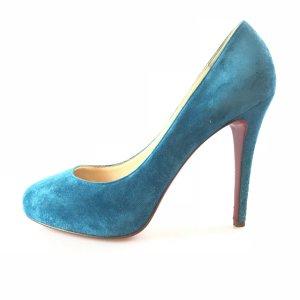 Blue Christian Louboutin High Heel