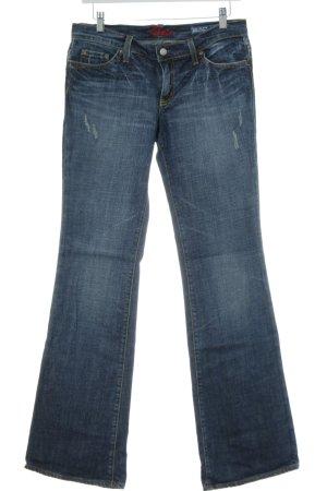 Blue Cult Jeans a zampa d'elefante blu stile casual