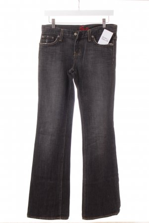 Blue Cult Jeansschlaghose grau Washed-Optik