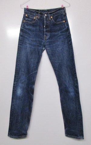 Levi's Jeans taille haute bleu-bleu acier coton