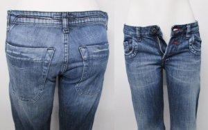 Jeans coupe-droite multicolore coton