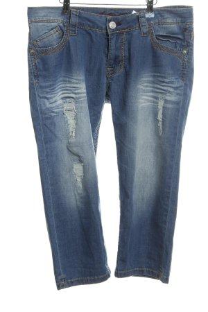 Blue Fire 3/4 Jeans blau Jeans-Optik