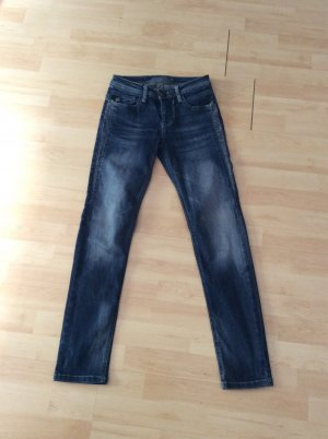Blue Fire Tube jeans donkerblauw