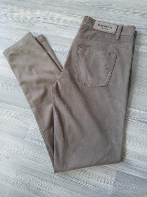 Blue Fire Pantalone in pelle marrone-grigio