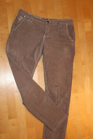 Blue Fire Pantalón boyfriend marrón claro tejido mezclado