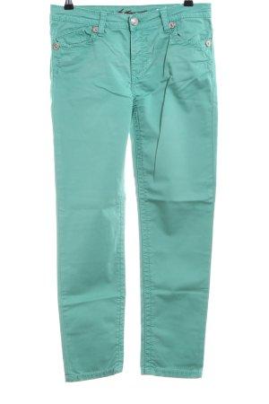 Blue Fire Pantalón de cinco bolsillos turquesa look casual
