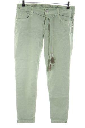 Blue Fire Pantalon cinq poches vert style décontracté