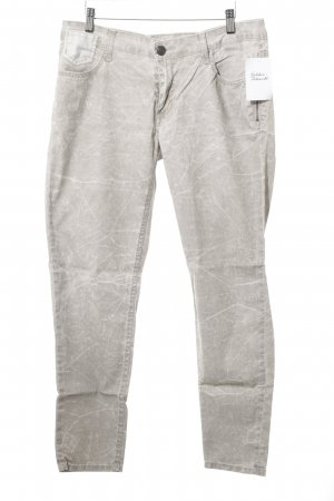 Blue Fire Five-Pocket-Hose hellbeige-hellgrau Farbtupfermuster Casual-Look