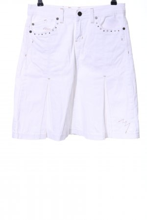 Blue Fire Godet Skirt white casual look