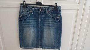 Blue Fire Denim Skirt blue