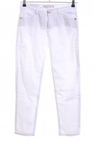 Blue Fire Drainpipe Trousers white casual look