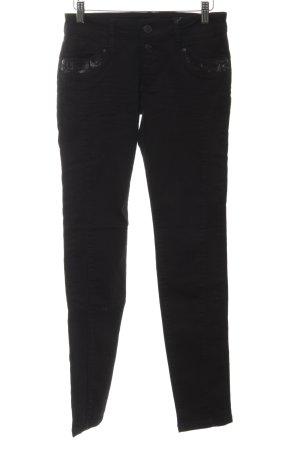 Blue Fire Skinny Jeans schwarz Business-Look