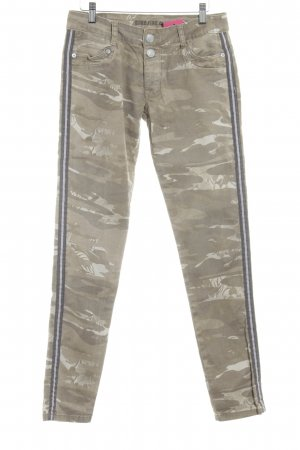 Blue Fire Skinny Jeans beige Military-Look