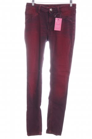 Blue Fire Skinny Jeans bordeauxrot Washed-Optik
