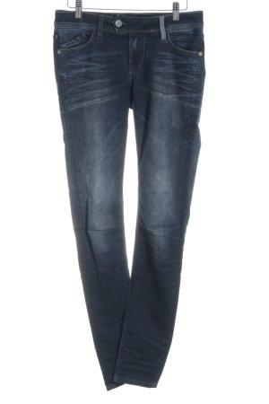 Blue Fire Skinny Jeans dunkelblau Washed-Optik