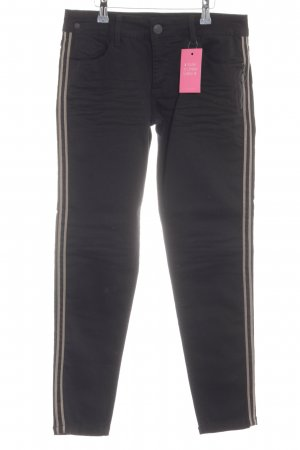 Blue Fire Skinny Jeans schwarz-beige Casual-Look