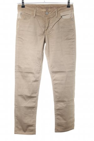 Blue Fire Straight-Leg Jeans braun-creme grafisches Muster Casual-Look