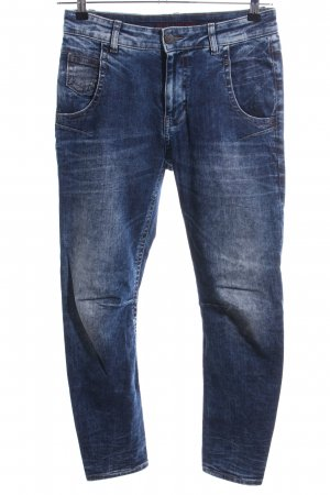 Blue Fire Straight-Leg Jeans blau-weiß Casual-Look