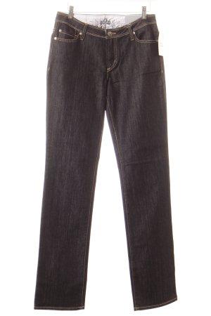 Blue Fire Jeans met rechte pijpen goud-donkerblauw casual uitstraling