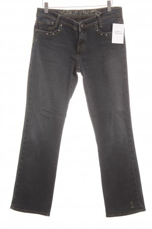 Blue Fire Straight-Leg Jeans graublau-blassgrün Casual-Look