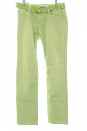 Blue Fire Straight Leg Jeans lime-green extravagant style