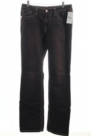 Blue Fire Straight-Leg Jeans schwarz-braun Casual-Look