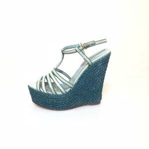 Gucci Plateauzool Sandalen met Hoge Hakken blauw