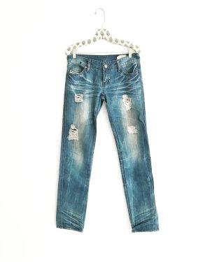 blue jeans / denim / diesel / ripped / used look / boho / hippie / festivallook