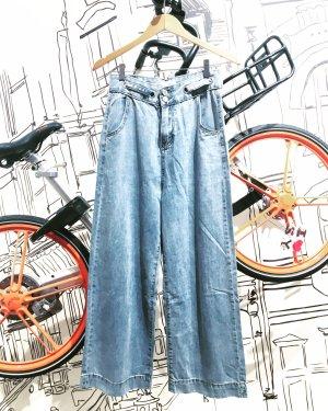 Vintage Hoge taille jeans blauw-azuur