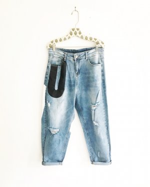 Free People Jeans larghi multicolore