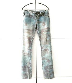 blue jeans gemustert
