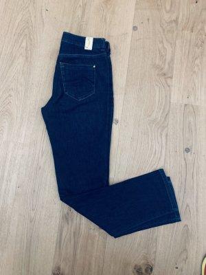 Atelier Gardeur Straight Leg Jeans dark blue cotton